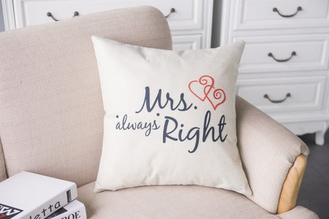 Mr & Mrs Alway Right Pillow Cases - Looker Gifts