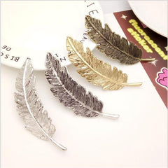Antique Feather Hair Clips