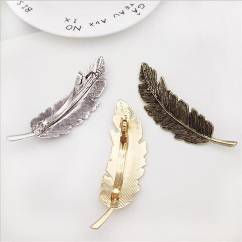 Antique Feather Hair Clips - Looker Gifts