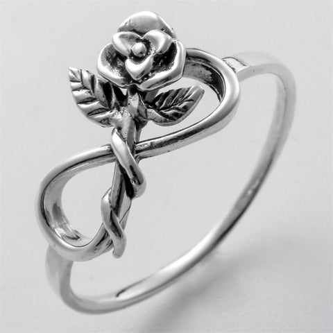 Classic Beauty Rose Leaf Ring - Looker Gifts