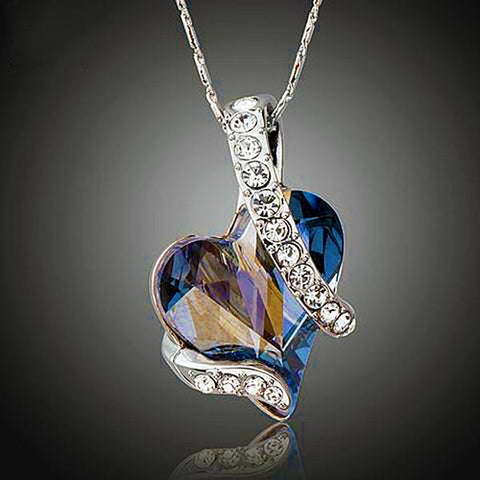 Forever Love Austrian Crystal Necklace - Looker Gifts