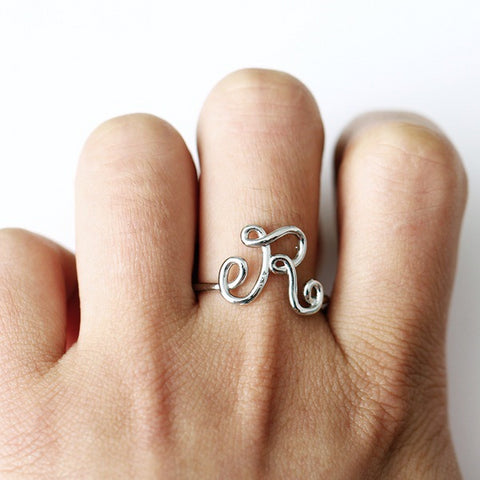 Custom Initial Ring - Looker Gifts