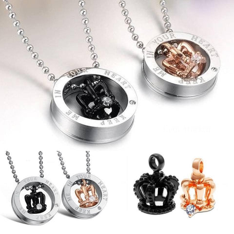 His & Hers Couples Crown Necklaces - Buy 1 Get 1 Free! - Looker Gifts