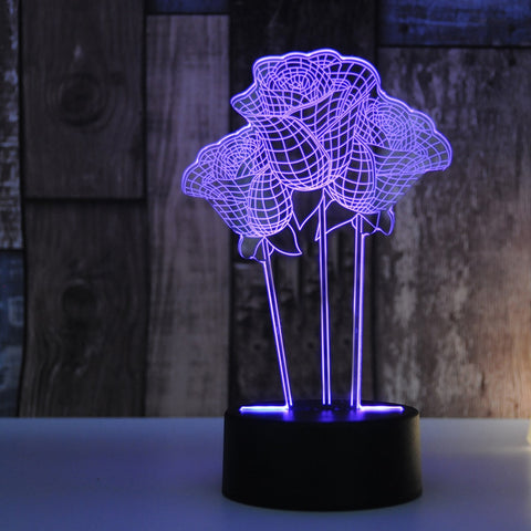 3D Rose Lamp - Looker Gifts
