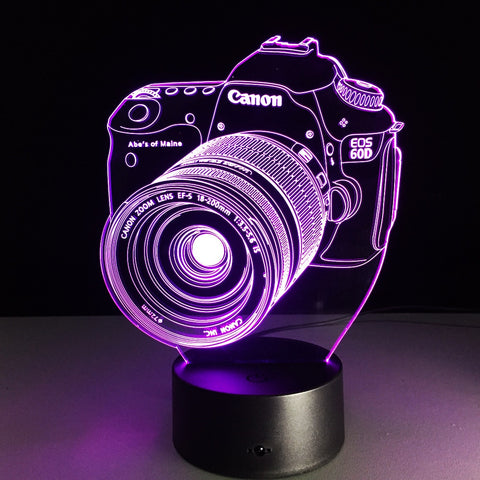 3D Camera Lamp - Looker Gifts
