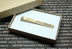 Personalized Gold Tie Clips