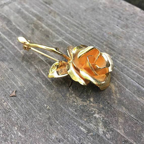Golden Rose Brooch - Looker Gifts