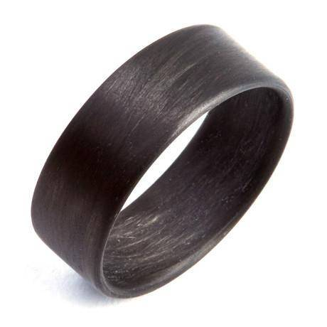 Carbon Fiber Unidirectional Black Ring - Looker Gifts