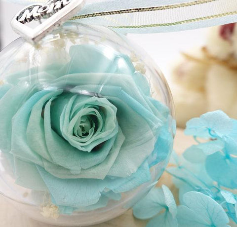 Preserved Flower Keychain w/ leather strap - Looker Gifts