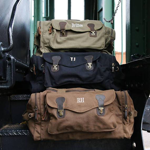 Personalized Groomsmen Military Style Weekend Travel Bag - Looker Gifts