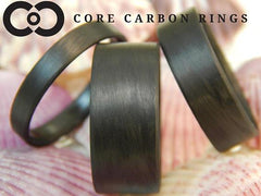 Carbon Fiber Unidirectional Black Ring