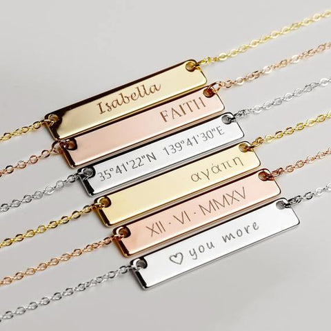 Custom Name/Quote Necklace - Looker Gifts