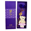 Image of 24K Golden Rose with Teddy Bear - Looker Gifts