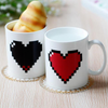 Image of Pixel Heart Heat Changing Mug - Looker Gifts