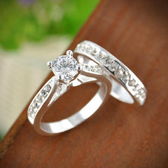 Silver Crystal Engagement Rings