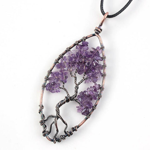 Amethyst Tree of Life Pendant - Looker Gifts
