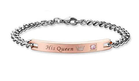 Her King and His Queen Couple Bracelets - Looker Gifts