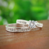 Image of Silver Crystal Engagement Rings - Looker Gifts