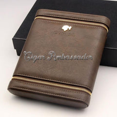 Luxury Cigar Case with Cedar Wood for 6 Cigars