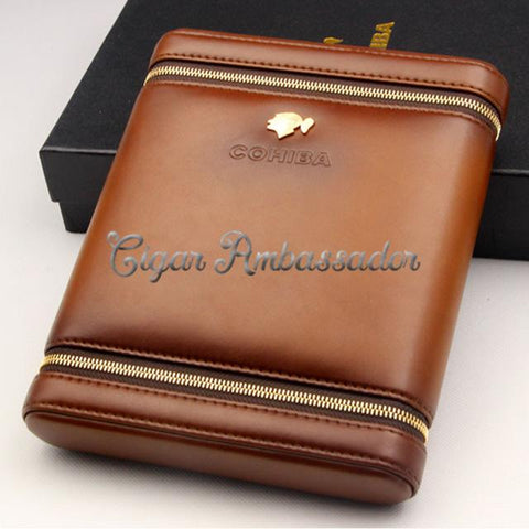 Luxury Cigar Case with Cedar Wood for 6 Cigars - Looker Gifts