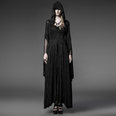 Hooded Lace Knit Dress - Looker Gifts
