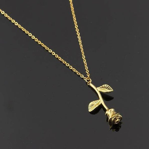 Rose Flower Necklace - Looker Gifts