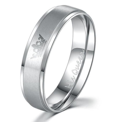 King and Queen Stainless Steel Ring Sets - Looker Gifts