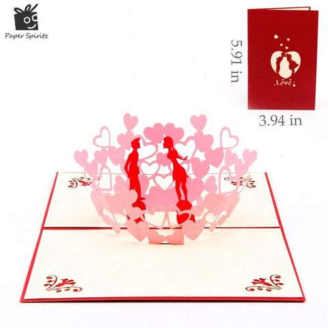 Valentines Day 3D Pop Up Greeting Cards - Looker Gifts