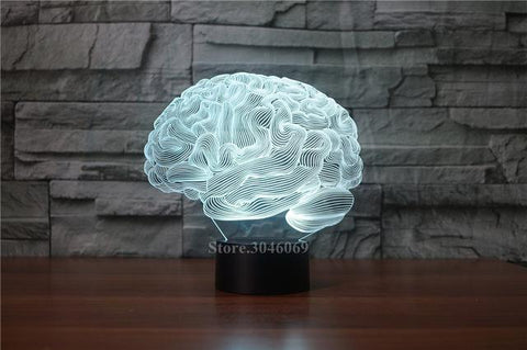 3D Brain Illusion Lamp - Looker Gifts