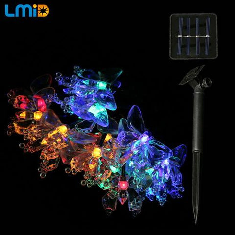 Butterfly Solar String Lights - Looker Gifts