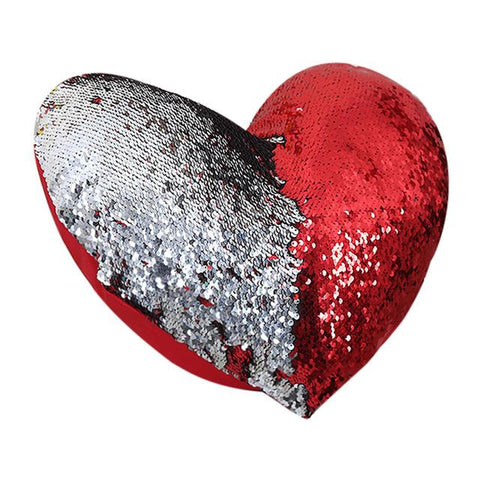 Sequin Heart Pillow Case - Looker Gifts