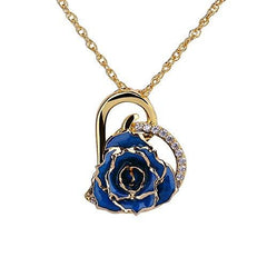 24K Gold Plated Rose Necklace