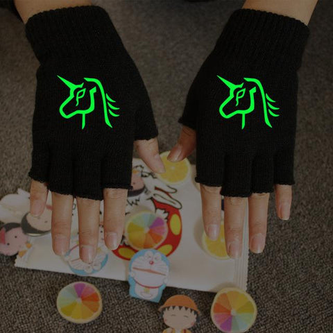 Luminous Unicorn Half Finger Gloves - Looker Gifts