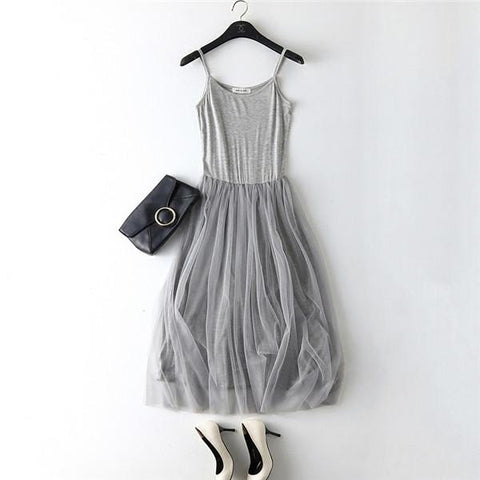 Layered Mesh Sundress - Looker Gifts