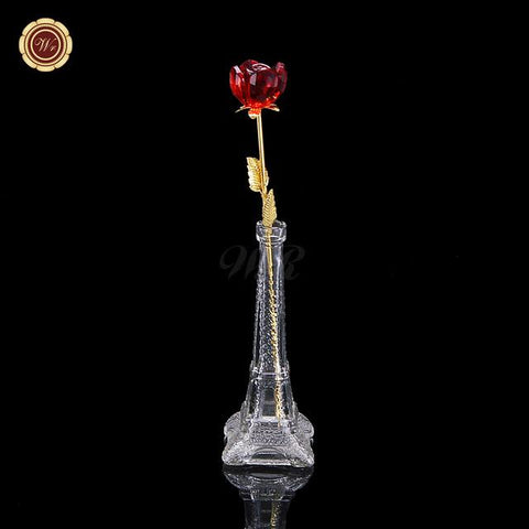 Crystal Long Stem Rose - Looker Gifts