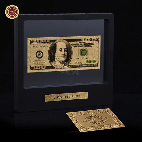 24K Gold $100,000 Dollar Bills - Looker Gifts