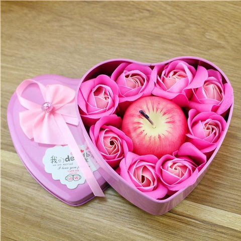 Rose Soap Gift Box with Candles - Looker Gifts