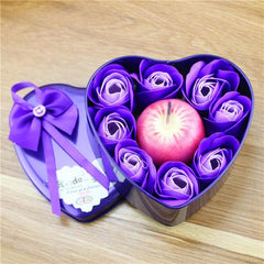 Rose Soap Gift Box with Candles