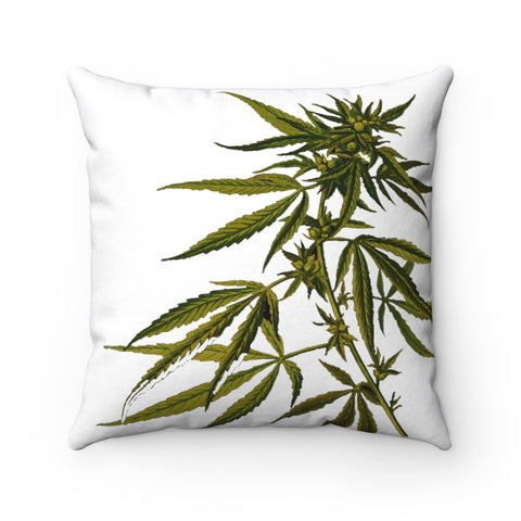 Happy Hemp Head Throw Pillow,Home Decor,Printify,SENSE Hemp.