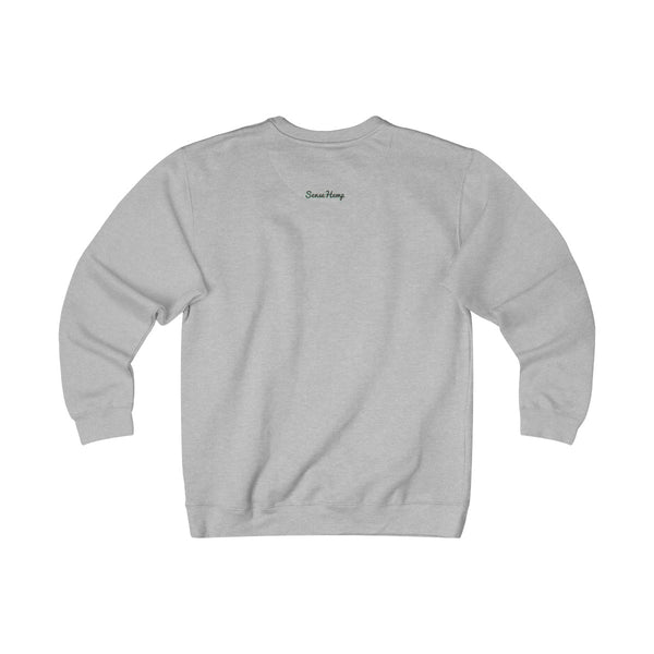 Unisex Happy Hemp Head Fleece Crew - SENSE Hemp Co.,Sweatshirt,SENSE Hemp Co.,SENSE Hemp.