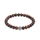 Beaded Link Bracelets in 8mm Tiger Eye, Hematite, Gemstones & Oxidized Silver Bead
