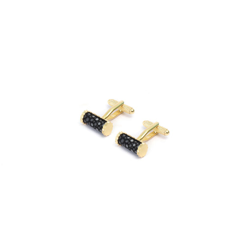 Stingray Cufflink Set in Gold Plating