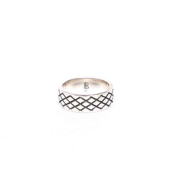 Cross Pattern Silver Ring