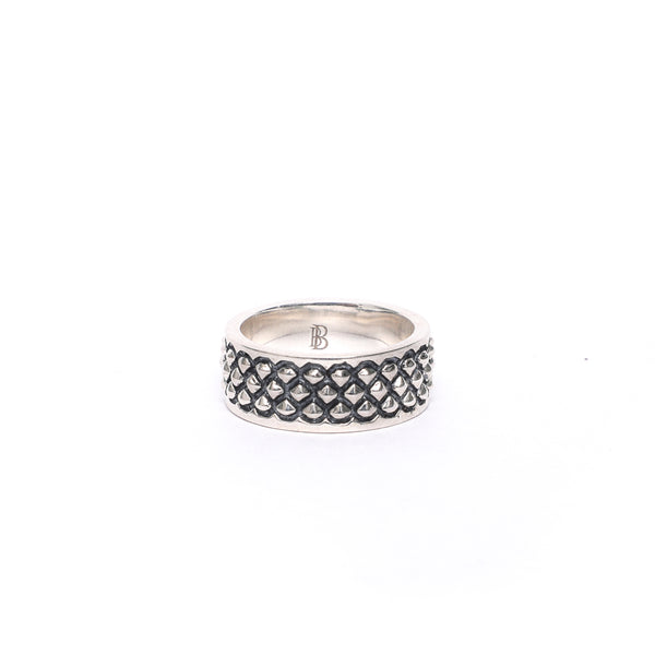 Rhombus Oxidized Silver Ring