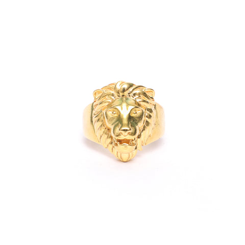 Poised Royal Lion Ring