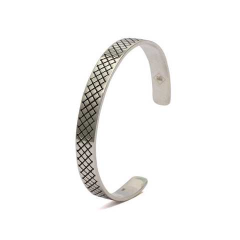 Cross Pattern Cuff Bangle