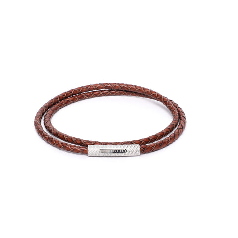 4mm Double Wrap Bracelet in Genuine Leather