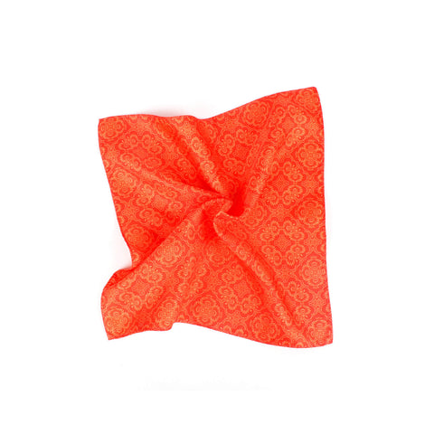 Opulent Solid Tone Pocket Square, Burnt Orange