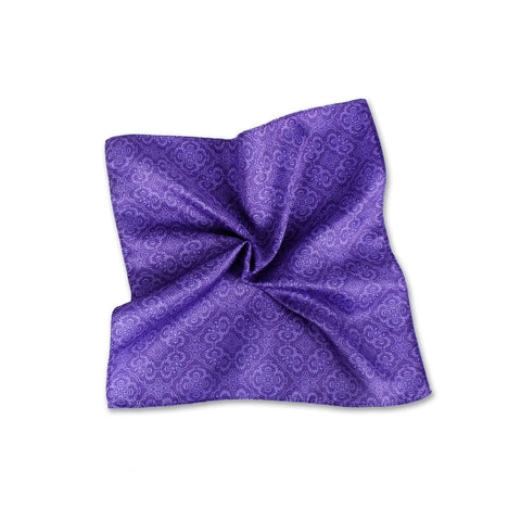 Opulent Solid Tone Pocket Square, Lilac