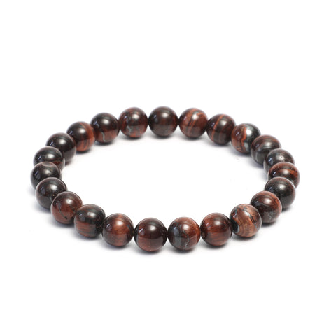Plain 10mm Beaded Bracelet in Polished Finish